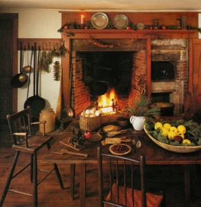 Christmas_Primitive Colonial Kitchen