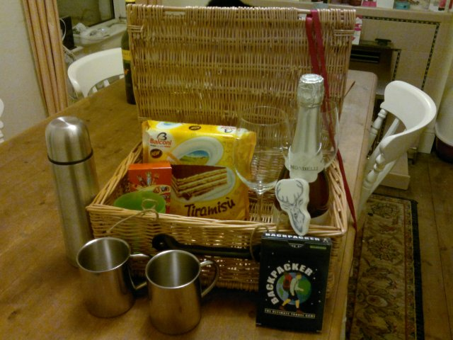 Our little new year's eve hamper.